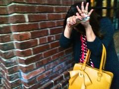 No Pictures, Please! (Lynn Friedman) Tags: world sanfrancisco brick fashion real women no stop purse paparazzi missamerica pagent 94111 lynnfriedman