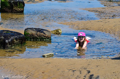 Spread Out (karllaundon) Tags: family sea summer sun cute beach fun happy seaside day child laugh northeast rockpool redcar