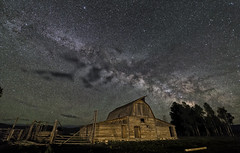 Moulton Barn (bmurdock12) Tags: barn zeiss canon nationalpark nightscape jackson wyoming jacksonhole milkyway grandtetonnationalpark moultonbarn zeiss15mm canon6d