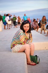 Michelle in Zadar (Strangelove 1981) Tags: travel summer tourism sunglasses photography sitting steps michelle croatia step sit zadar 5photosaday