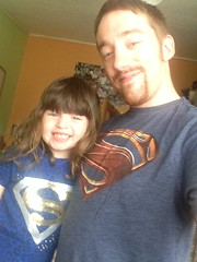 Super Selfie! (TaZ4444) Tags: daddy dad daughter superman superdad dadanddaughter selfie superselfie