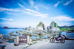 FH020018 sado island japan (163R's Masa) Tags: film japan island motorcycle yamaha  sado touring  tt250rraid