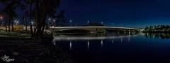 Nocturna del nuevo puente de Zamora para Zoa Escudero (Urugallu) Tags: viaje espaa luz rio canon puente noche spain agua flickr panoramica nocturna zamora reflejos duero zoa 50d castillaleon joserodriguez urugallu