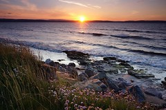 Black Isle (Leirinmore) Tags: sunset sea west beach water rock evening coast scotland highlands sony moray photographing firth nairn nex nairnshire