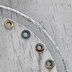 Silver metal background (TouTouke - Nightfox) Tags: old texture industry metal wall silver circle layout grey design construction aluminum iron industrial pattern panel belgium metallic background steel board border banner gray hard plate polish brush line cover page frame sheet material framework shape oblique tablet copy template futuristic stainless ironworks kluisbergen ruien