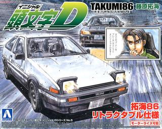 頭文字D  藤原拓海駕車AE86 1/32比例 組裝模型(再次販售)