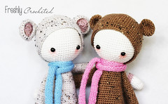 Rada and Bina (Olilchen) Tags: bear mushroom fly rat dolls crochet lion company fox amigurumi lalylala
