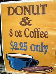 good morning (kenjet) Tags: morning window coffee sign shop breakfast am oz 8 coffeeshop donut only 225 8oz