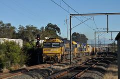 Among the shadows (highplains68) Tags: railroad rail railway australia nsw newsouthwales aus ssfl superfreighter southernsydneyfreightline 7mb4