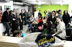 Community Nights at the Tool Library, lots of great people and projects in the making!