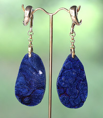 Chalcedony Druzy Ear Weights