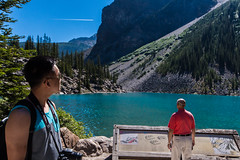 Moraine Lake. (daveybobby) Tags: camping banff banffnationalpark morainelake bluegreenwater bluegreenlake agatewater