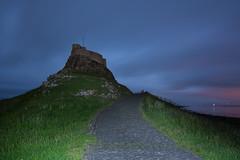 Lindisfarne Castle (Callaghan69) Tags: road uk longexposure lightpainting castle night landscape coast nikon nightscape nightshot torch northumberland le cobbles holyisland torchlight lindisfarnecastle northeastengland d7100 tokina1116 nikond7100
