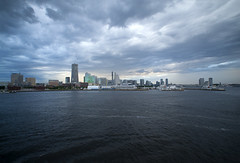 View of Yokohama Minato Mirai cloudy afternoon (DigiPub) Tags: city sea tower japan horizontal architecture outdoors photography day cityscape sold overcast nopeople financialdistrict explore yokohama onsale minatomirai 横浜 japaneseculture gettyimages osanbashipier urbanskyline 2014 みなとみらい 曇り 大桟橋 traveldestinations colorimage downtowndistrict builtstructure g11977041 11358021 p20140703 505515141 m201601