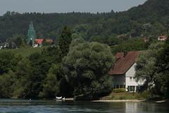 Rhein ( Fluss - River - Hochrhein ) zwischen B.ibersmhli  und D.iessenhofen im Kanton Thurgau in der Schweiz und Deutschland (chrchr_75) Tags: chriguhurnibluemailch christoph hurni chrchr chrchr75 chrigu chriguhurni 1406 juni 2014 hurni140623 rhein rhin reno rijn rhenus rhine rin strom europa albumrhein fluss river joki rivire fiume  rivier rzeka rio flod ro schweiz suisse switzerland svizzera suissa swiss juni2014 albumrheinsteinamrheinrheinfall albumhochrhein hochrhein