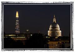 Lit Up Landmarks (JodBart) Tags: london skyline lights view balcony landmarks nighttime stpaulscathedral shard clerkenwell