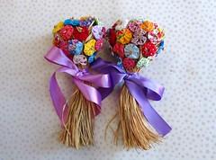 Bouquet de fuxico (Cute for Baby by Mirian Rezende) Tags: casamento buqu lembrancinhas fuxicos