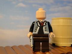 Booker DeWitt (WIP) Custom Lego Minifig (bricker2201) Tags: by hand lego painted minifig custom infinite booker dewitt bioshock