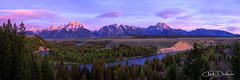 Grand Tetons (Chad Dutson) Tags: morning light panorama mountains west tree nature beauty pine forest sunrise river landscape dawn nationalpark glow bend outdoor snakeriver wyoming grandtetons wilderness teton tetons grandteton americanwest alpenglow riverscape forestscape chaddutson