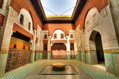 Madrasa Bou Inania (traveling-in-morocco.com) Tags: africa minaret muslim islam morocco maroc maghreb afrique muslimculture madrasa bouinania ศิลปะ แอฟริกา médersa médersabouinania madrasabouinania المغرب โมร็อกโก مكناس ศาสนาอิสลาม culturemuslumane วัฒนธรรมอิสลาม เมคเนส หอสวดมัสยิด