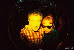 selfie con Santi (araceli.g) Tags: wedding lomo boda colorsplashflash fisheye salamanca analogic araceli analogico gilabert toycamaera fisneyen2 amorporunpimiento