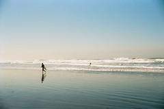 Morning surf (Arachide) Tags: ocean sanfrancisco california film 35mm surf waves fuji oceanbeach konica c41 bigmini bm302