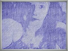 Lady of blue... () Tags: am i