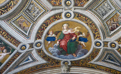 Raphael, allegorical figure of theology, ceiling