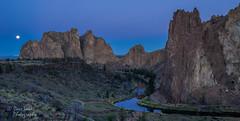 By Dawn's Early Light (NW Vagabond) Tags: blue moon oregon sunrise dawn twilight angle wide hour smithrock terebonne