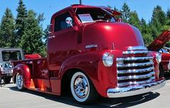 "1952 Chevrolet COE pickup truck ""Custom"" (Custom_Cab) Tags: chevrolet 1952 red up truck design cab over engine pickup pick advance coe street rod custom kustom chevy cabover"