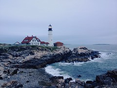 Portland Head Light (mlee525) Tags: ocean travel lighthouse water coast maine roadtrip portlandheadlight iphone capeelizabeth