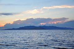 Storm clouds rolling across the Great Salt Lake (Great Salt Lake Images) Tags: sunset summer storm utah antelopeisland greatsaltlake monsoon gilbertbay