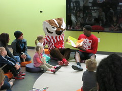 Red White and Read (madisonpubliclibrary) Tags: public children families uwmadison unitedway permissions literacy 2014 library partnerships central madison