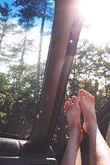 hello new hampshire (dannerzz) Tags: trees light sun feet car vertical toes newhampshire roadtrip lensflare flare pices canon6d danielledeleon dannerzz