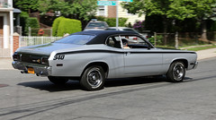 1973 Plymouth Duster 340 (vetaturfumare - thanks for 2 MILLION views!!!) Tags: ny black car silver muscle bronx plymouth pony duster panning 1973 340