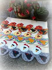 PaNoS De PrAtO GaLiNhAs (DoNa BoRbOlEtA. pAtCh) Tags: handmade application patchwork applique cozinha galinhas aplicao panosdeprato bordadomo donaborboletapatchwork denyfonseca