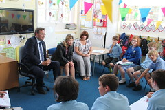 "Stephen Mosley MP and DFID Secretary of State Justine Greening visit Dodleston CE Primary School to hear about Send My Friend to School • <a style=""font-size:0.8em;"" href=""http://www.flickr.com/photos/51035458@N07/14653945226/"" target=""_blank"">View on Flickr</a>"