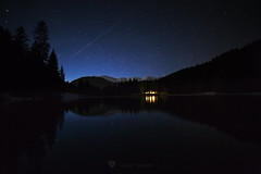 Lake of deer (Clauser Damiano) Tags: light lake mountains night stars landscape chalet nightview astrograpy
