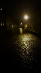 street houses light house dark evening photo streetlight... (Photo: vurre on Flickr)