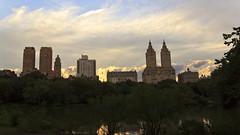 The Gardians of the Park (Pierre-Luc G.) Tags: nyc newyorkcity sky ny newyork architecture clouds centralpark cloudporn skyporn