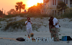 Marry Me Part 2 (hillyer.megan) Tags: sunset cute love georgia island couple marriage tybee proposal
