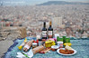 Picnic with a view... (Yankis) Tags: world barcelona city sunset food landscape spain nikon scenery europe picnic wine mouton d3 traveler yanni 2470 georgoulakis