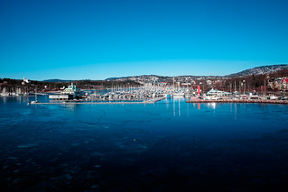 Frognerkilen i Oslo sett fra Kielferjen Magic