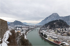Kufstein . Tirol (:: Blende 22 ::) Tags: river inn fluss inntal valley reflections refexionen tiltshift maountains berge wasser farbe farbig austria tyrol kufstein city fortress kufsteinfortress roof bluesky blue sky canon canoneosd canoneos5dmarkii ef2470mmf28lusm