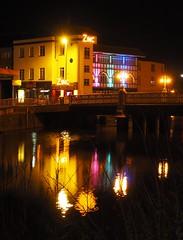 Zinc, Taunton (Hammerhead27) Tags: dark uk colours zinc venue bar tone night light reflection river bridge somerset taunton