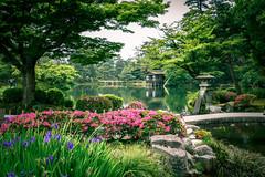 Kenroku-en (兼六園), the Six Attributes Japanese Zen Garden in Kanazawa (金沢) Japan (TOTORORO.RORO) Tags: kenrokuen 兼六園 japanese zen garden kanazawa japan historical kotojitoro lantern tranquility nature treearea pond lake