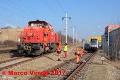 ÖBB loc 2070 050 naast RET stel 5715+5716 Wien Stadlau aansluiting bombardier 14-02-2017 (Marco Verzijl) Tags: ret öbb metro bombardier wien