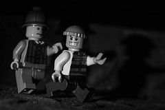 On the run from Shelock (Simon Gilgallon) Tags: lego prisoner sherlock shadow escapee ontherun legit holmes