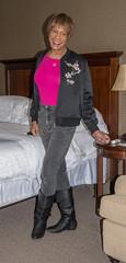 Travel-wear! (kaceycd) Tags: crossdress tg tgirl lycra spandex jeans slimfitjeans tightjeans tunic jacket bomberjacket embroidered boots sexyboots kinkyboots kneeboots s