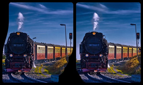 Historic Brocken Railway 3-D / Stereoscopy / Cross-Eye / HDR / Raw